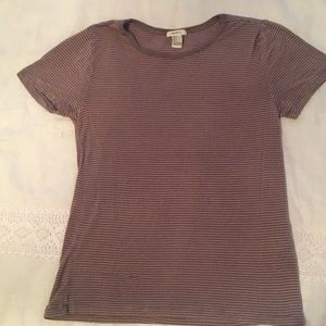 Forever 21 mauve striped t-shirt
